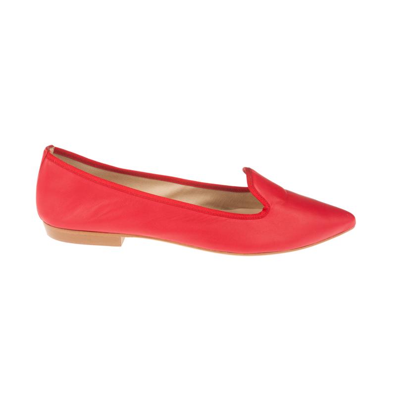 Bailarinas de piel clásicas rojas | Toñi Mediavilla