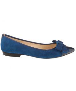 Bailarinas de piel azules con lazo | Toñi Mediavilla