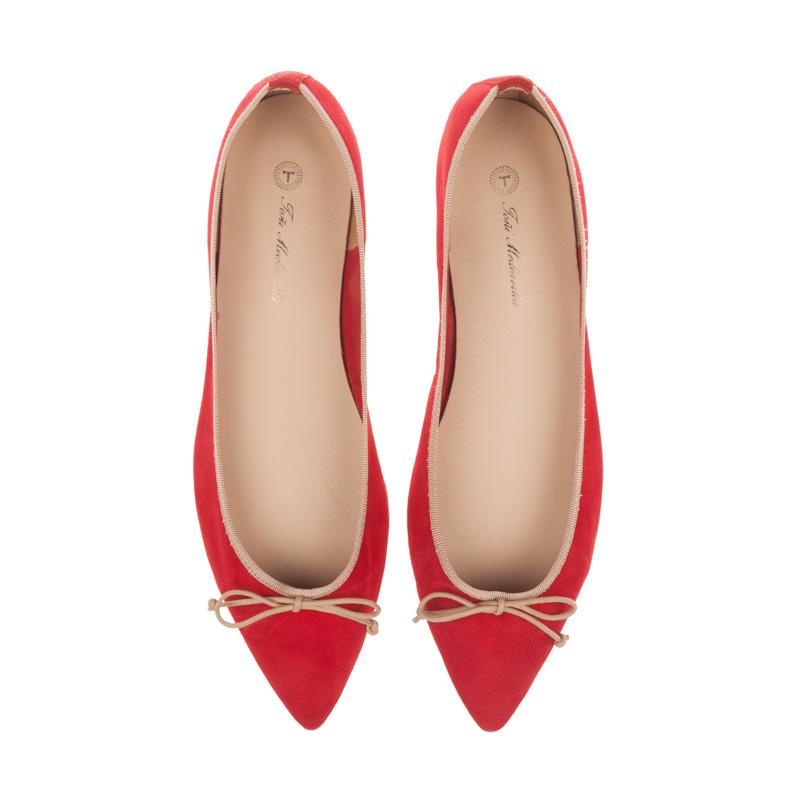 Bailarinas rojas y beige | Toñi Mediavilla