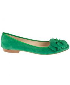 Bailarinas verdes con flor | Toñi Mediavilla