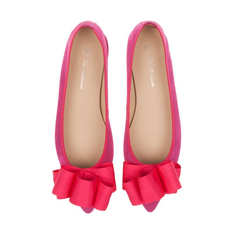 Bailarinas rosa fucsia con lazo | Toñi Mediavilla