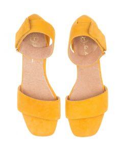 Sandalias de piel amarillas | Toñi Mediavilla