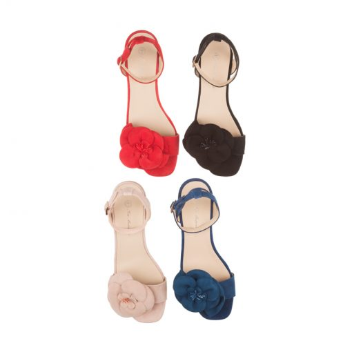 Sandalias de piel tacón bajo | Toñi Mediavilla