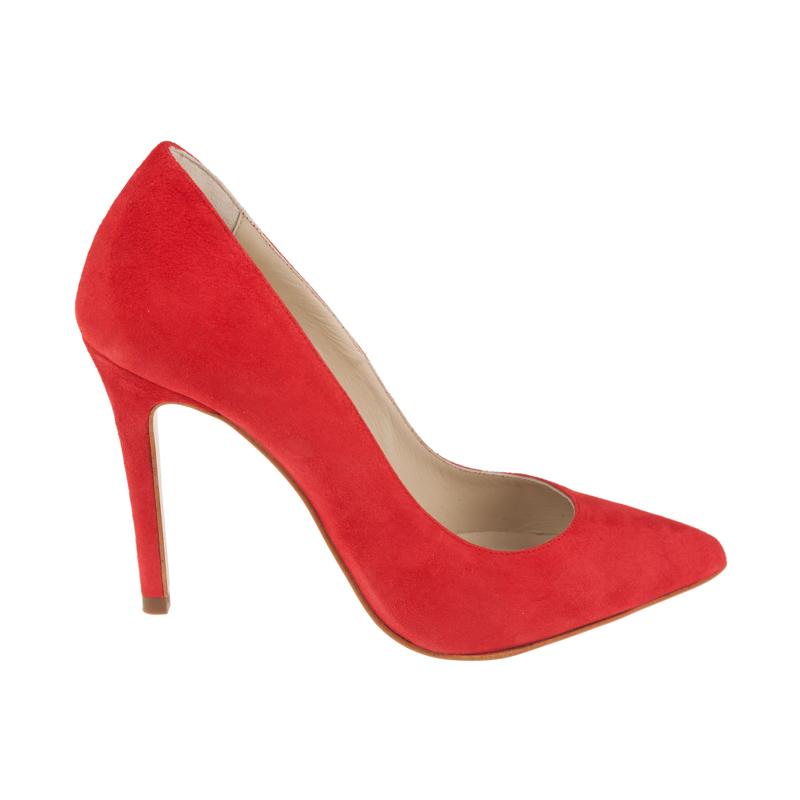 Stilettos de piel tacón alto rojos | Toñi Mediavilla
