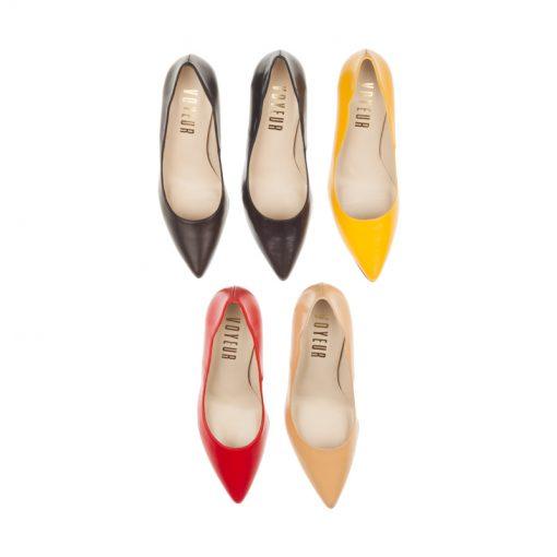 Stilettos de piel amarillos | Toñi Mediavilla