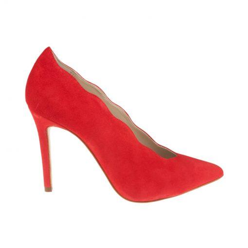 Stilettos de ante altos rojos | Toñi Mediavilla