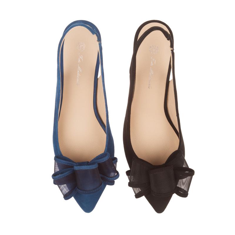 Stilettos de piel con moña | Toñi Mediavilla