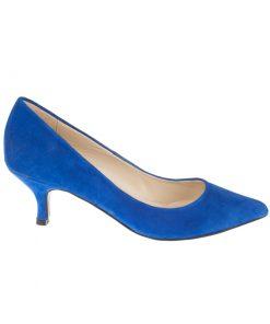 Stilettos de piel de ante azul | Toñi Mediavilla