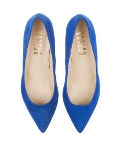 Stilettos de ante azul | Toñi Mediavilla