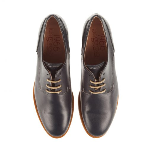 Zapatos planos de piel azules | Toñi Mediavilla