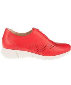 Zapatos planos rojos cordones | Toñi Mediavilla
