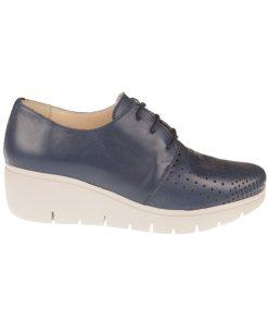Zapatos azules cordones | Toñi Medaiavilla