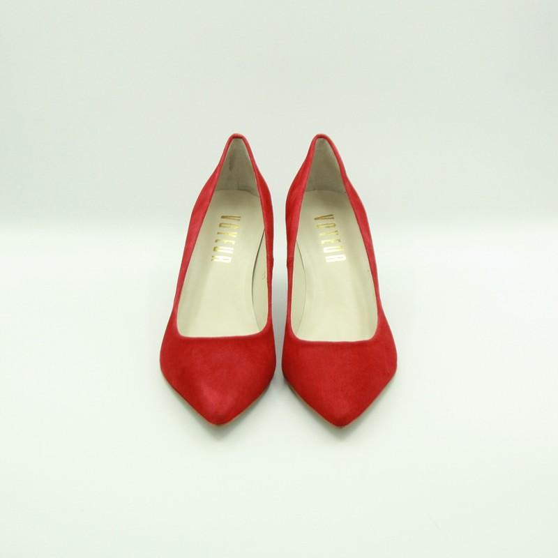 Stilettos de piel de ante rojo | Toñi Mediavilla I
