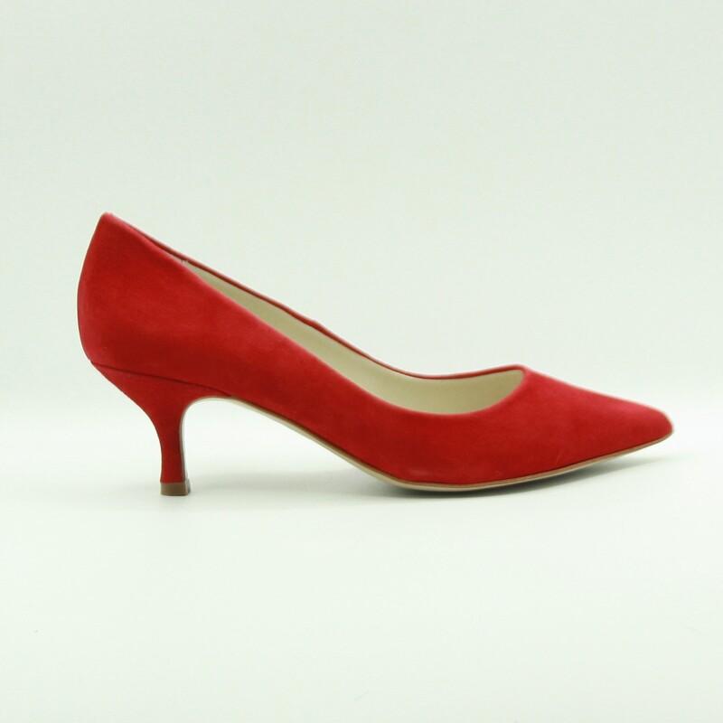 Stilettos de piel de ante rojo | Toñi Mediavilla
