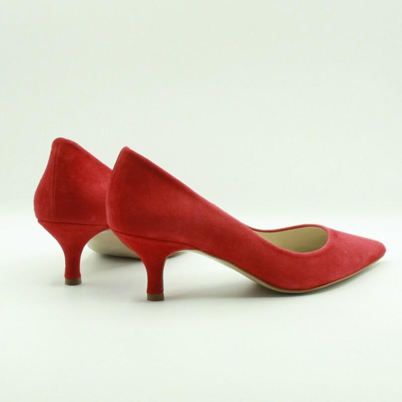 Stilettos de piel de ante rojo | Toñi Mediavilla II