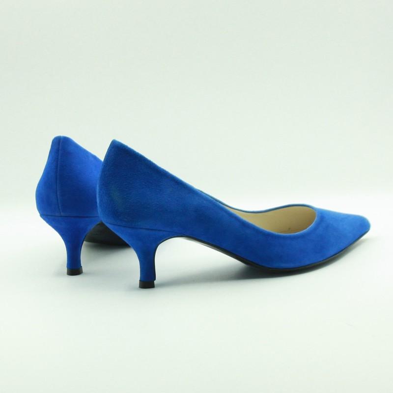 Stilettos de piel de ante azul | Toñi Mediavilla II